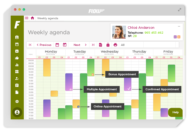 management software for aesthetics and beauty centers - Management for clinics - agenda online