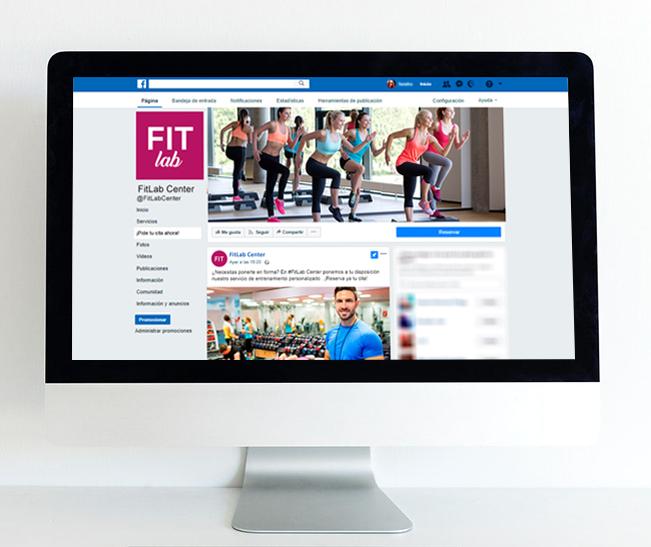 Facebook centro de fitness - Cita online fitness
