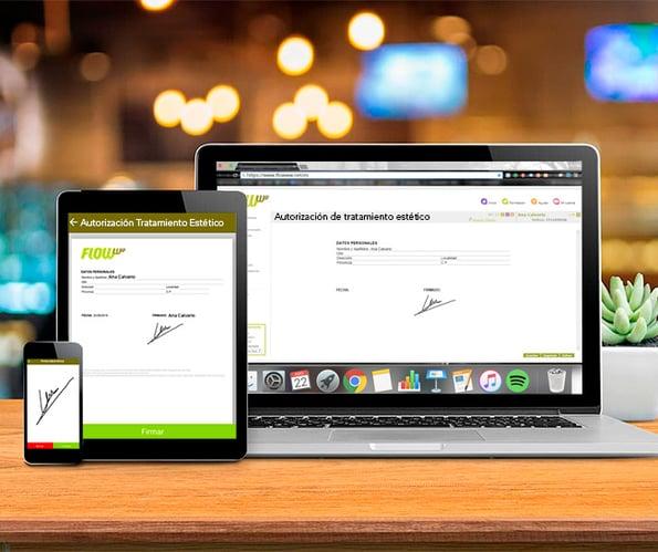 Firma digital -  App de gestión - Software de gestión para estética