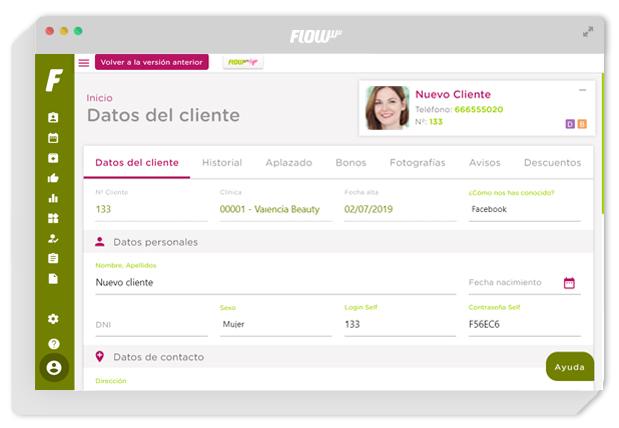 gestión para clínicas - software de gestión para clínicas de estética y belleza - gestión de clientes