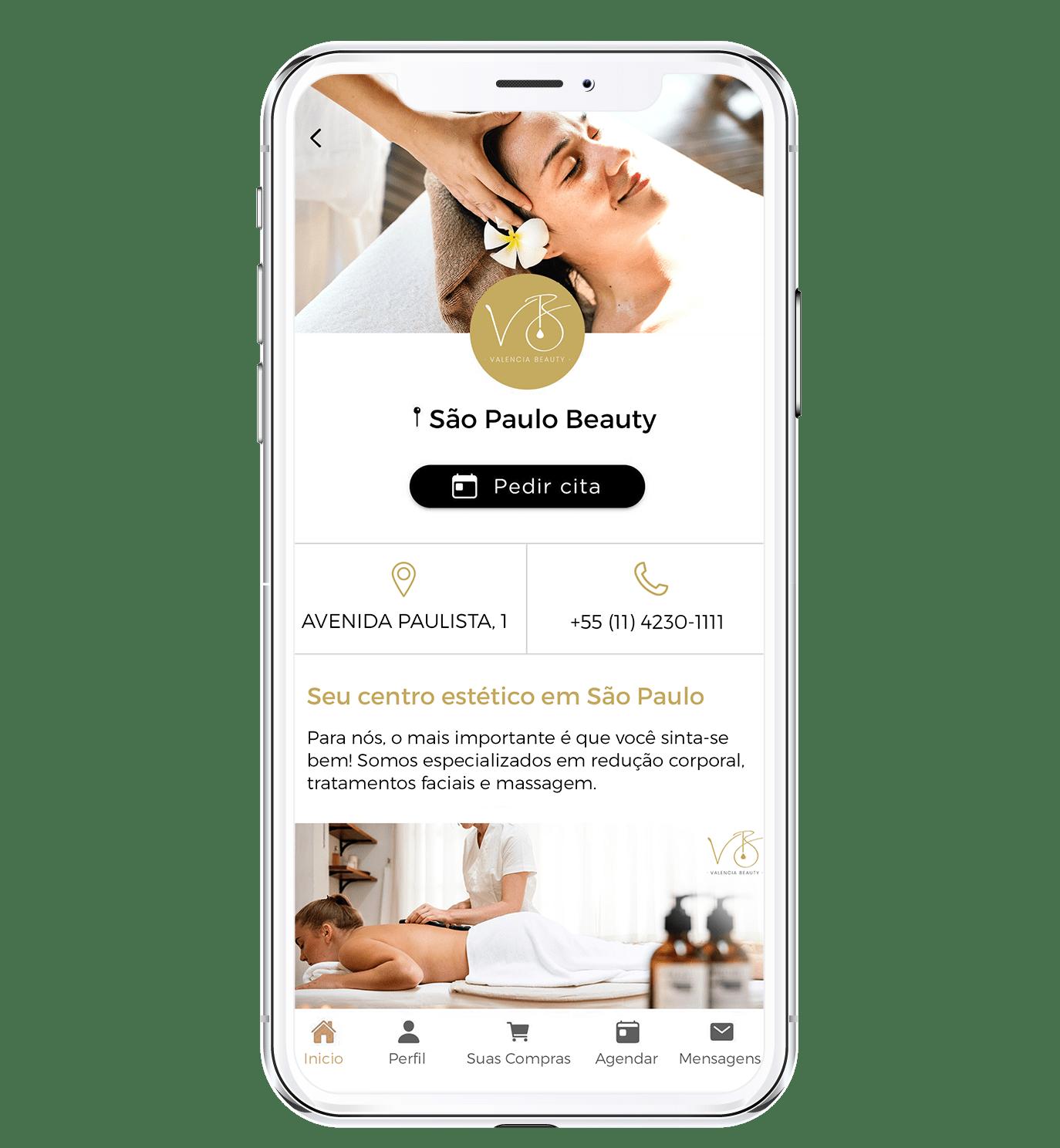 App agendamentos com a sua marca